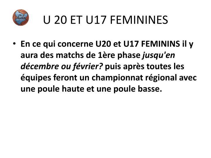 U 20 ET U17 FEMININES