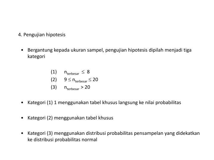 4. Pengujian hipotesis