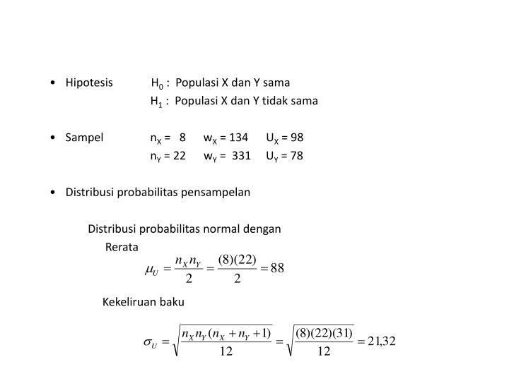 Hipotesis             H