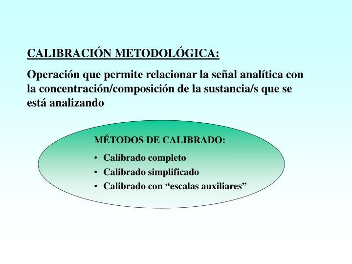 CALIBRACIÓN METODOLÓGICA: