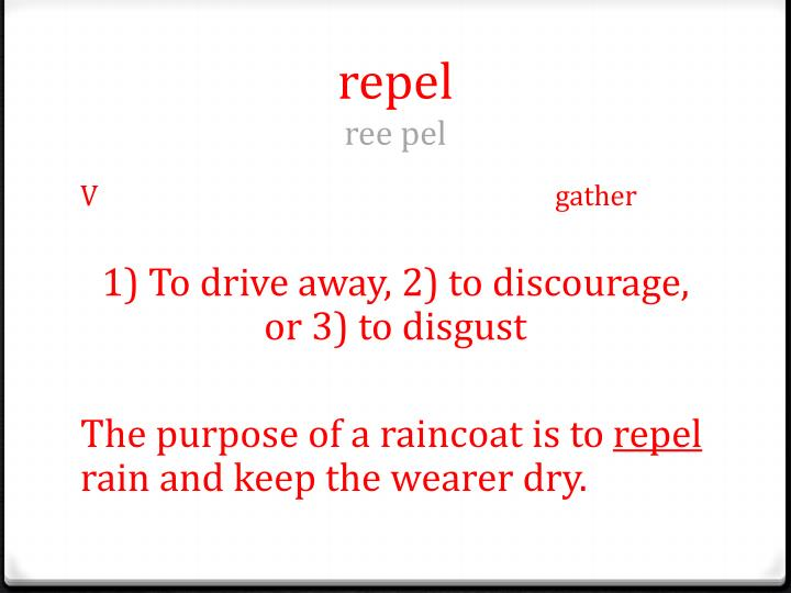 Repel ree pel