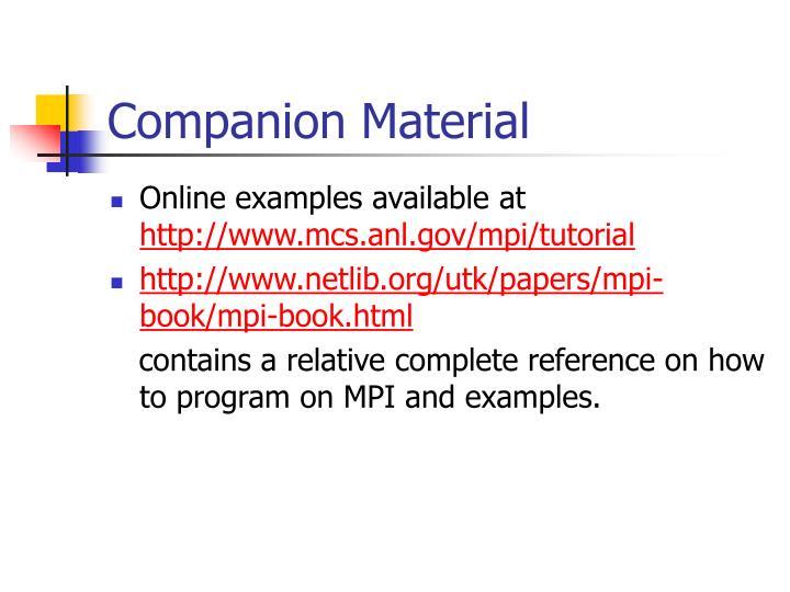 Companion Material