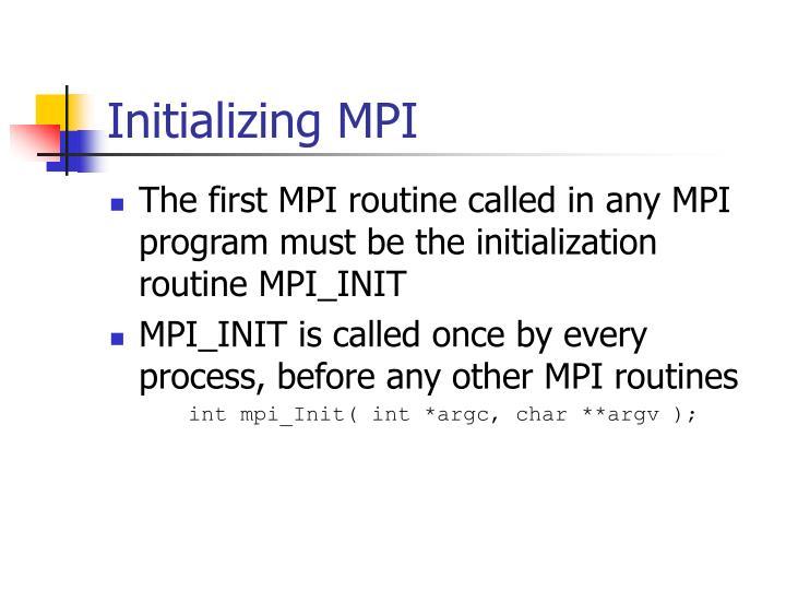 Initializing MPI