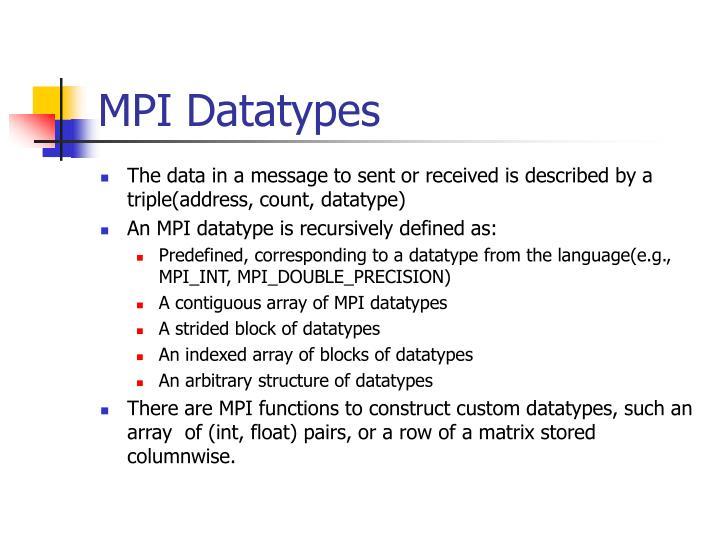 MPI Datatypes