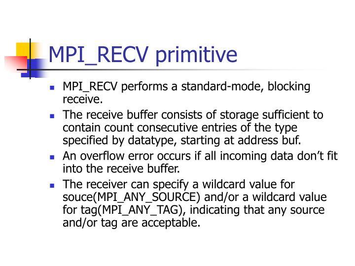 MPI_RECV primitive