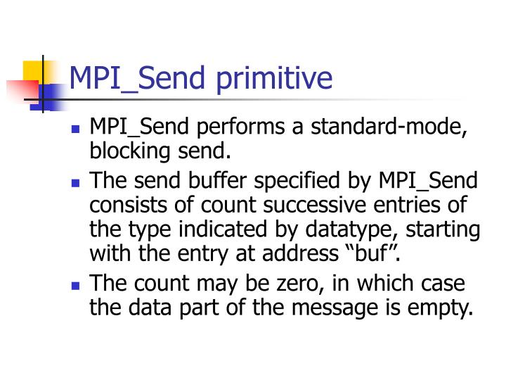MPI_Send primitive