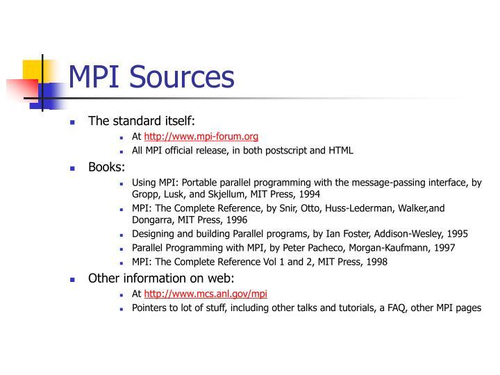 MPI Sources