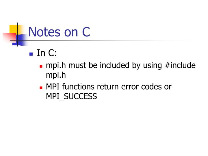 Notes on C