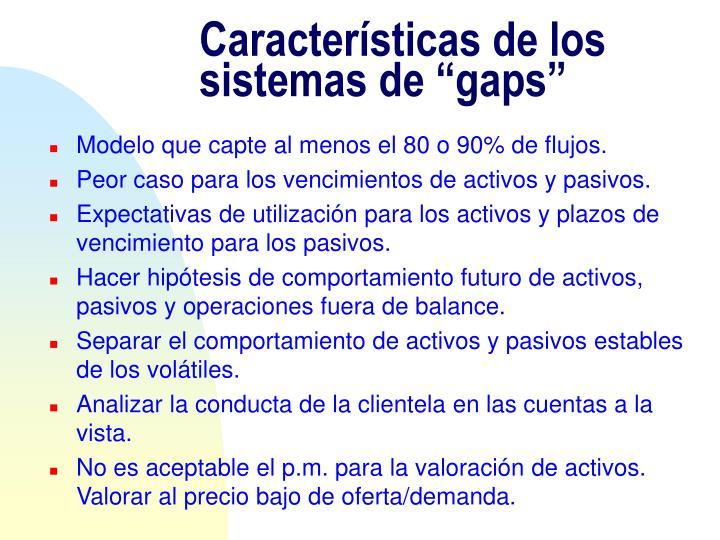 """Características de los sistemas de """"gaps"""""""