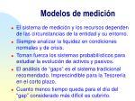 modelos de medici n
