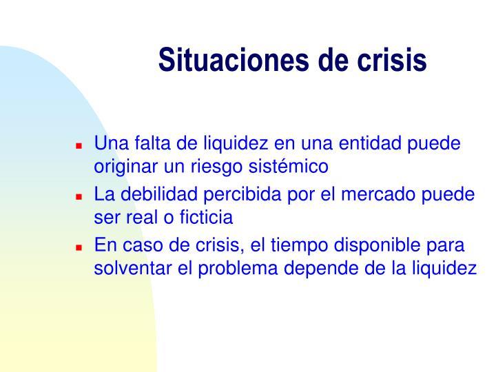 Situaciones de crisis