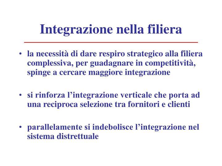 Integrazione nella filiera