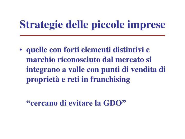 Strategie delle piccole imprese