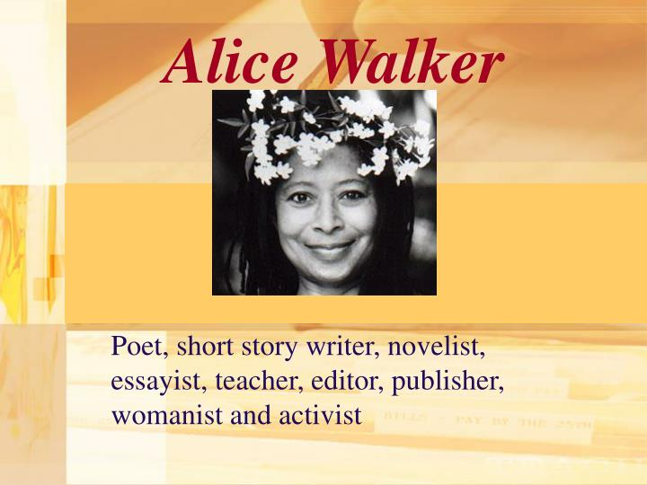 "alice walker story everyday use The character of ""dee"" in alice walker's ""everyday use"" comes across as being very shallow, selfish and arrogant from the very beginning of the story as the story progresses though, dee does become more complex and is shown to be struggling with her own identity and heritage."
