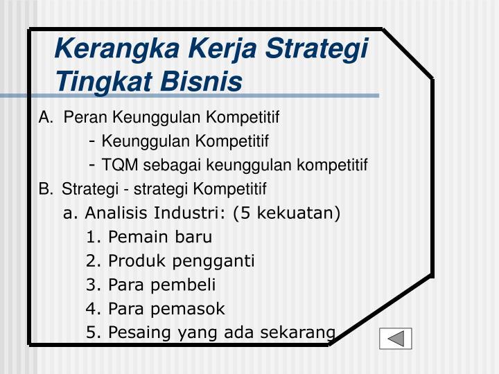 Kerangka Kerja Strategi