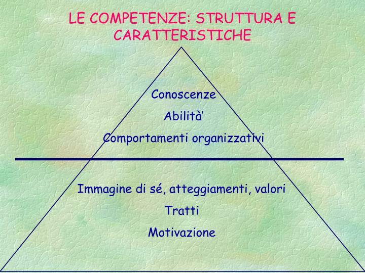 LE COMPETENZE: STRUTTURA E CARATTERISTICHE