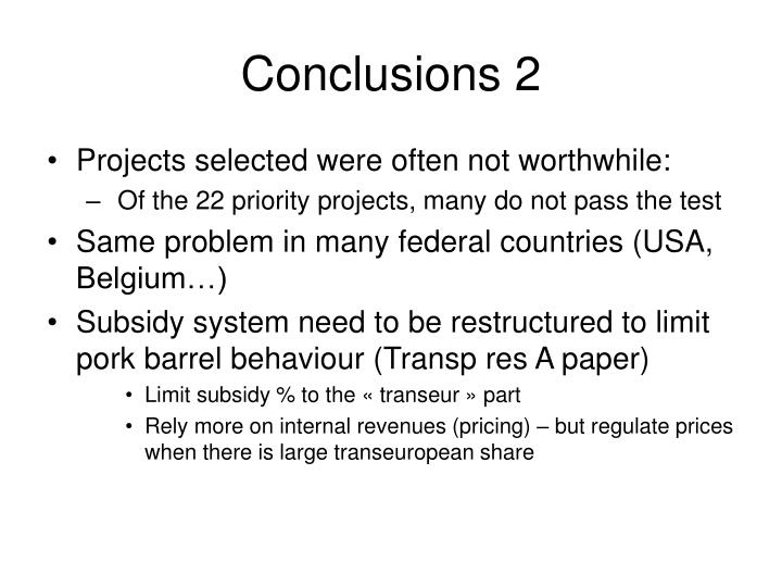 Conclusions 2