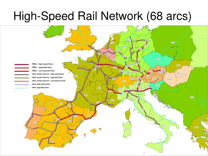 High-Speed Rail Network (68 arcs)