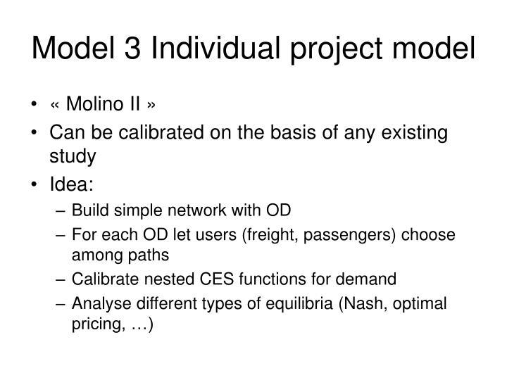 Model 3 Individual project model
