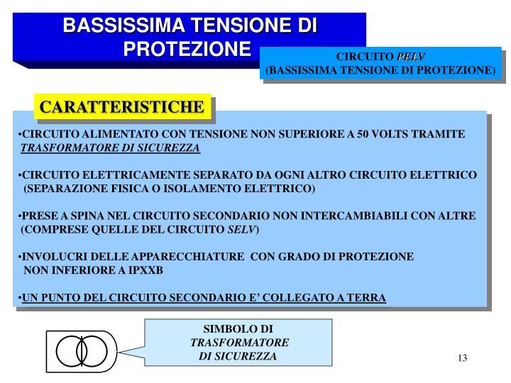BASSISSIMA TENSIONE DI