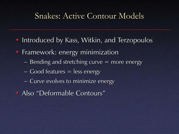 Snakes: Active Contour Models