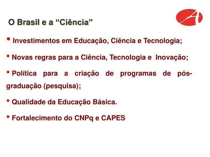 """O Brasil e a """"Ciência"""""""
