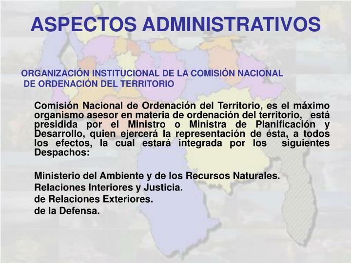ORGANIZACIÓN INSTITUCIONAL DE LA COMISIÓN NACIONAL