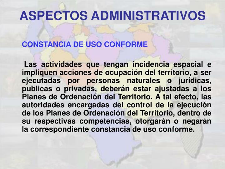 CONSTANCIA DE USO CONFORME