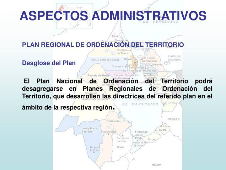 PLAN REGIONAL DE ORDENACIÓN DEL TERRITORIO