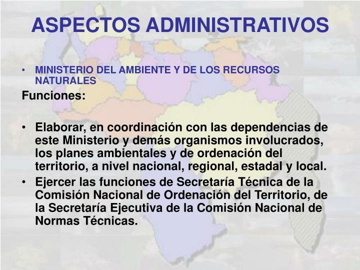 MINISTERIO DEL AMBIENTE Y DE LOS RECURSOS NATURALES