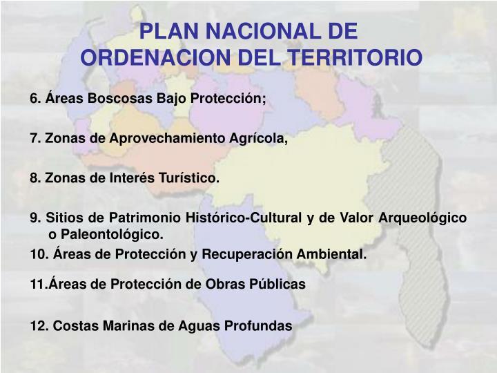 6. Áreas Boscosas Bajo Protección;