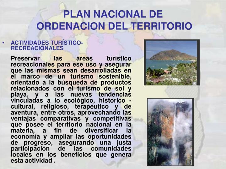 PLAN NACIONAL DE