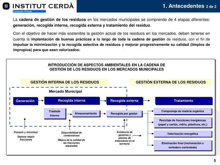 INTRODUCCIÓN DE ASPECTOS AMBIENTALES EN LA CADENA DE GESTIÓN DE LOS RESIDUOS EN LOS MERCADOS MUNICIPALES