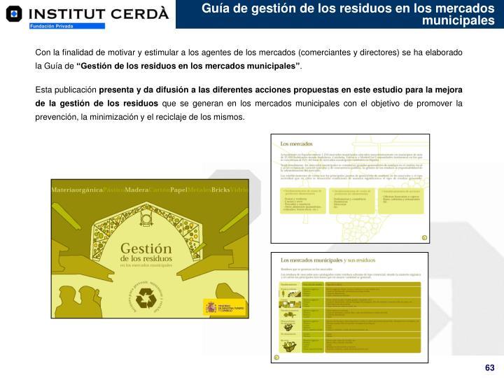 Guía de gestión de los residuos en los mercados municipales