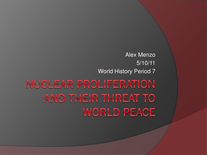 Alex menzo 5 10 11 world history period 7