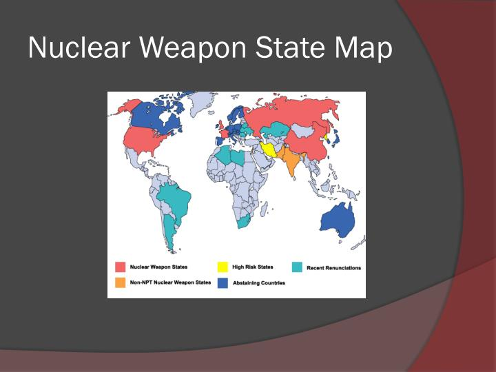 Nuclear weapon state map