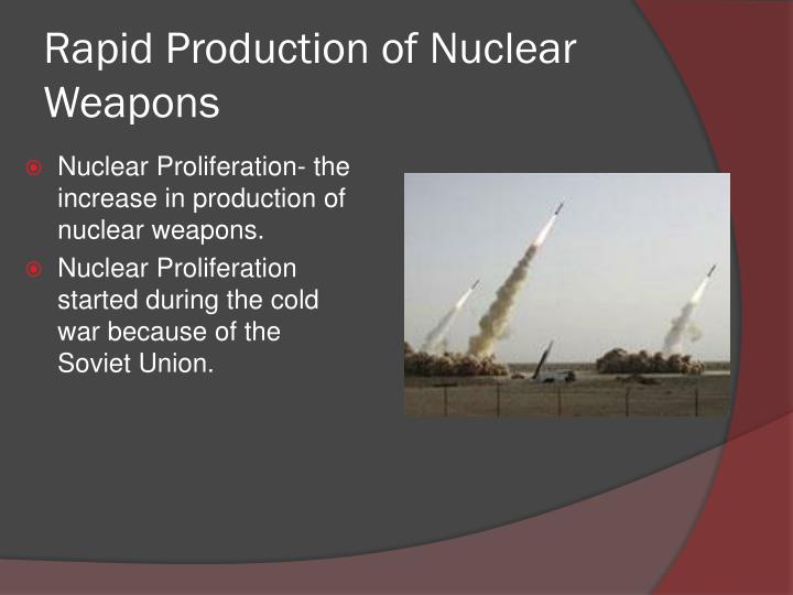Rapid Production of Nuclear Weapons