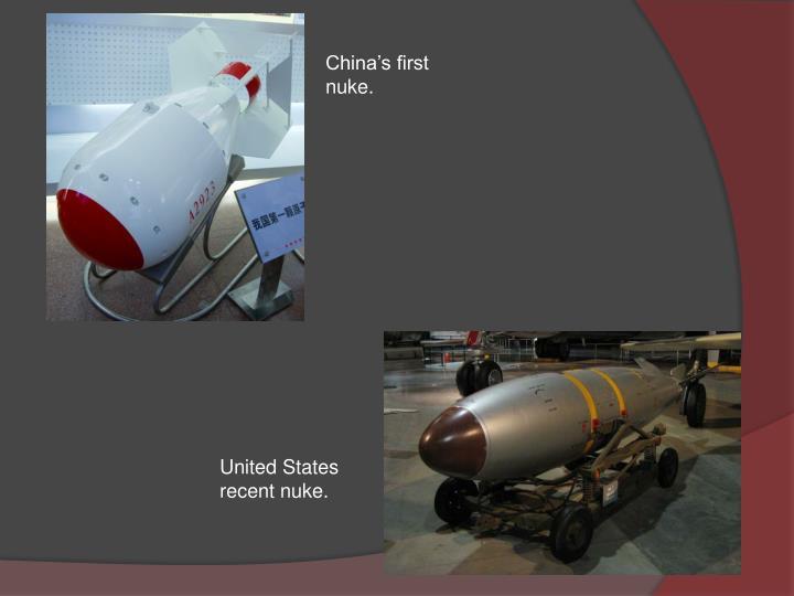 China's first nuke.