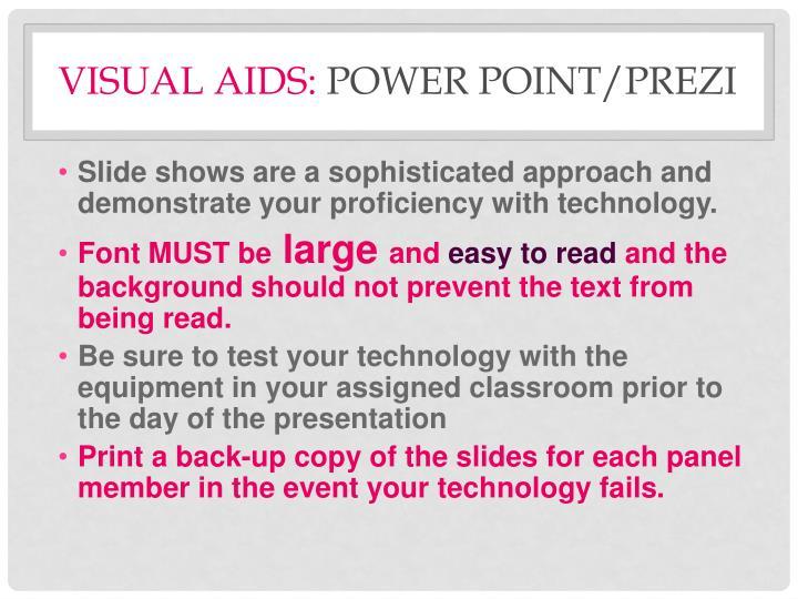 Visual Aids: