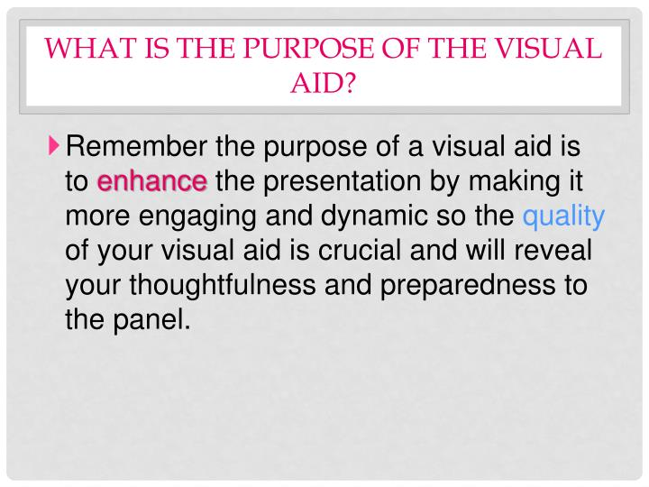 What is the purpose of the visual aid?