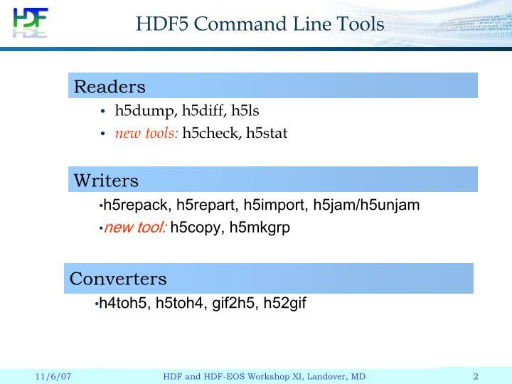 HDF5 Command Line Tools
