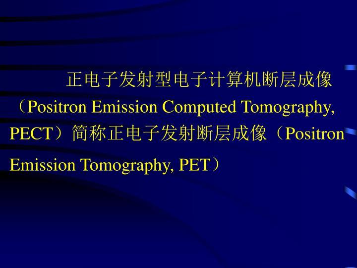 正电子发射型电子计算机断层成像(