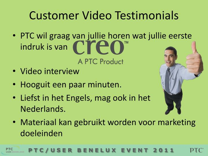Customer Video Testimonials