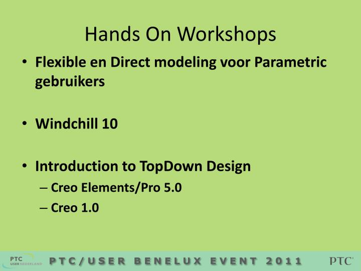 Hands On Workshops