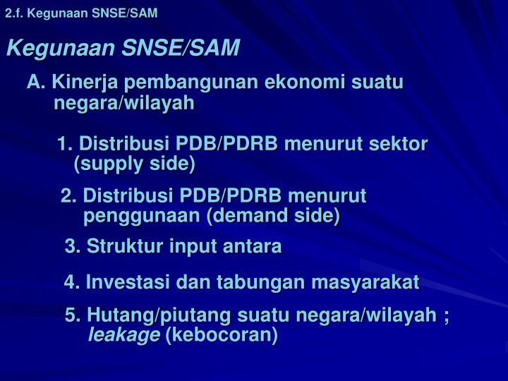 2.f. Kegunaan SNSE/SAM