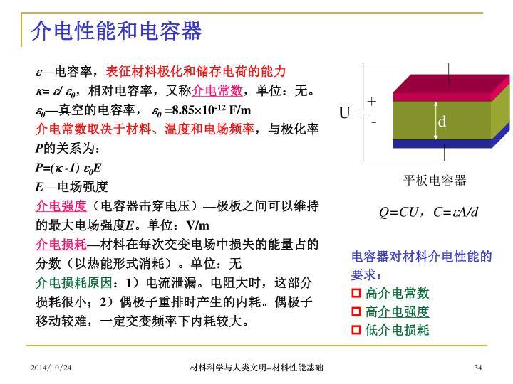 介电性能和电容器