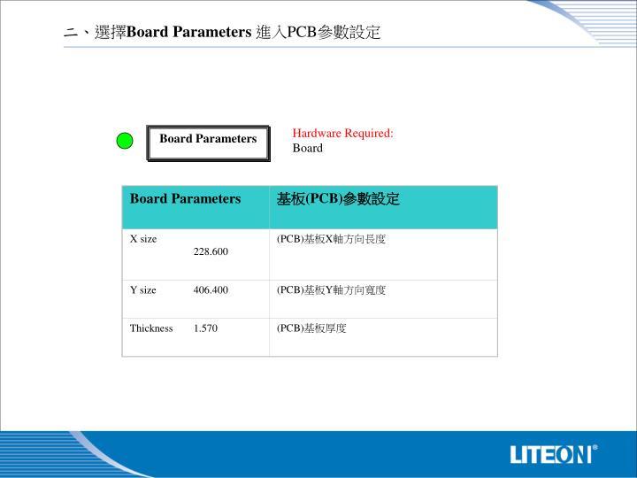 Board Parameters