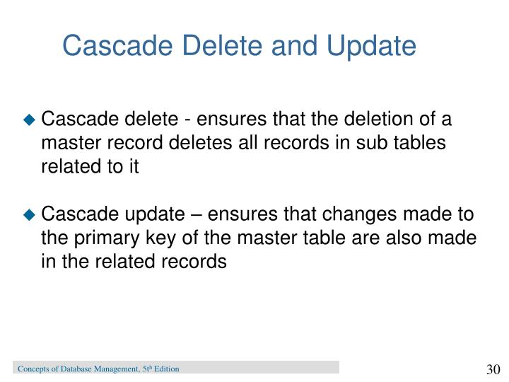 Cascade Delete and Update