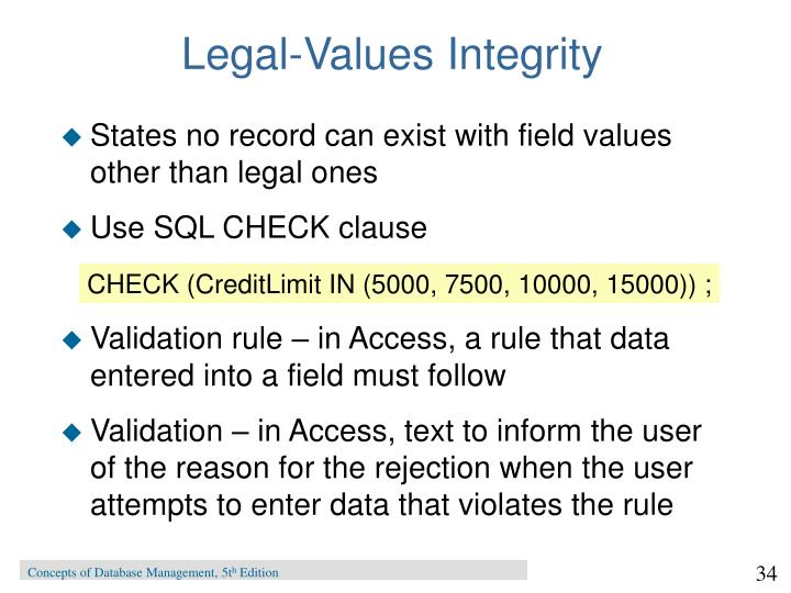 Legal-Values Integrity