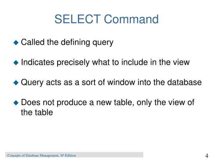 SELECT Command